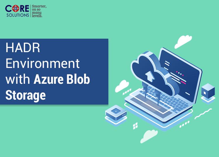 HADR Environment with Azure Blob Storage