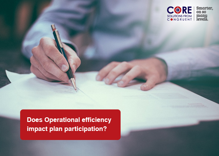 Does Operational Efficiency impact plan participation?