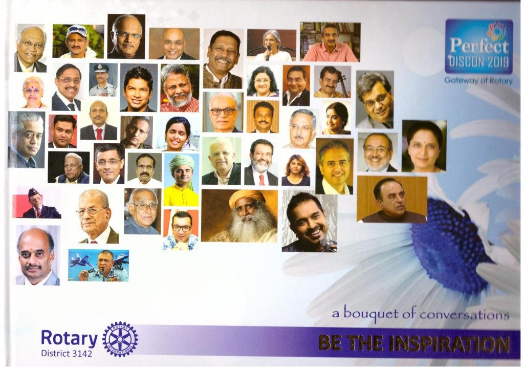 Bala features in 'Be the Inspiration – A bouquet of conversations' coffee table book by Rotary District 3142