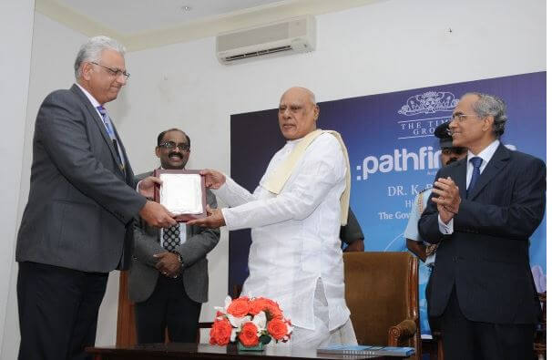 Bala J. Raman, President, Congruent Solutions, honored as Pathfinder 2013 by Times Group