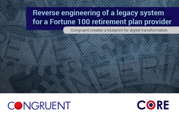 Reverse engineering of a legacy system for a Fortune 100 retirement plan provider