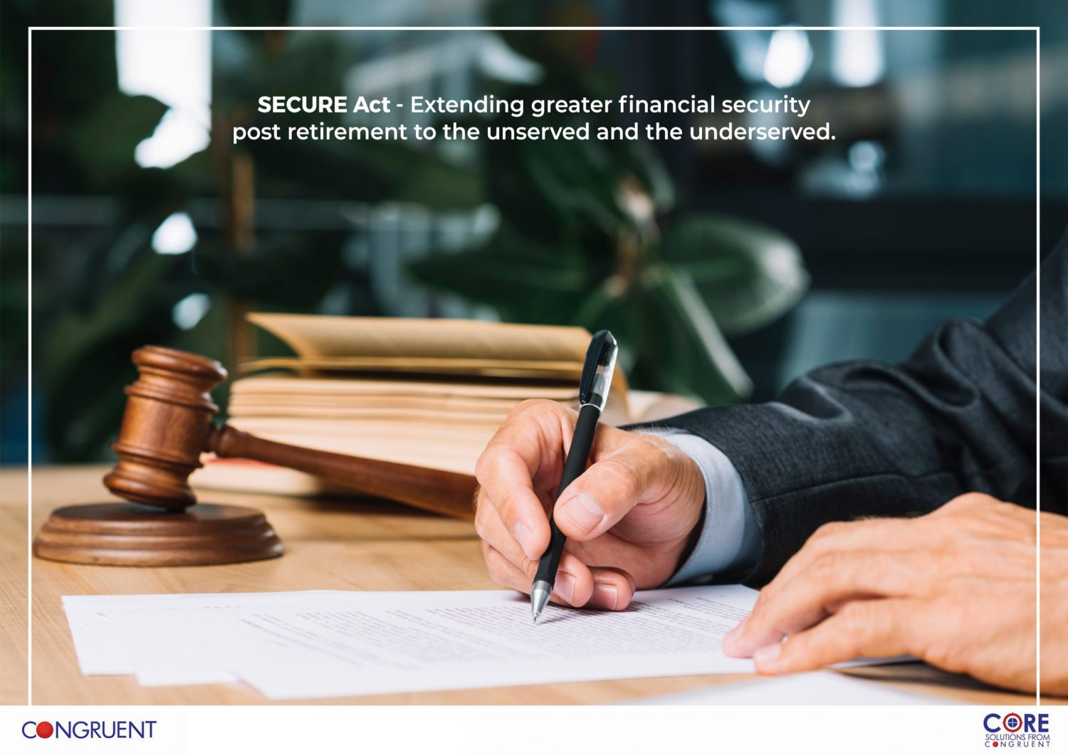The SECURE Act for Greater Financial Security