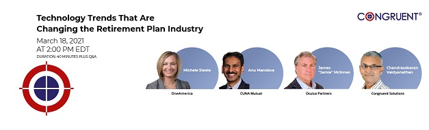 Congruent presents webinar on Technology Trends That Are Changing the Retirement Plan Industry